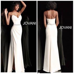 Jovani long Formal in ivory